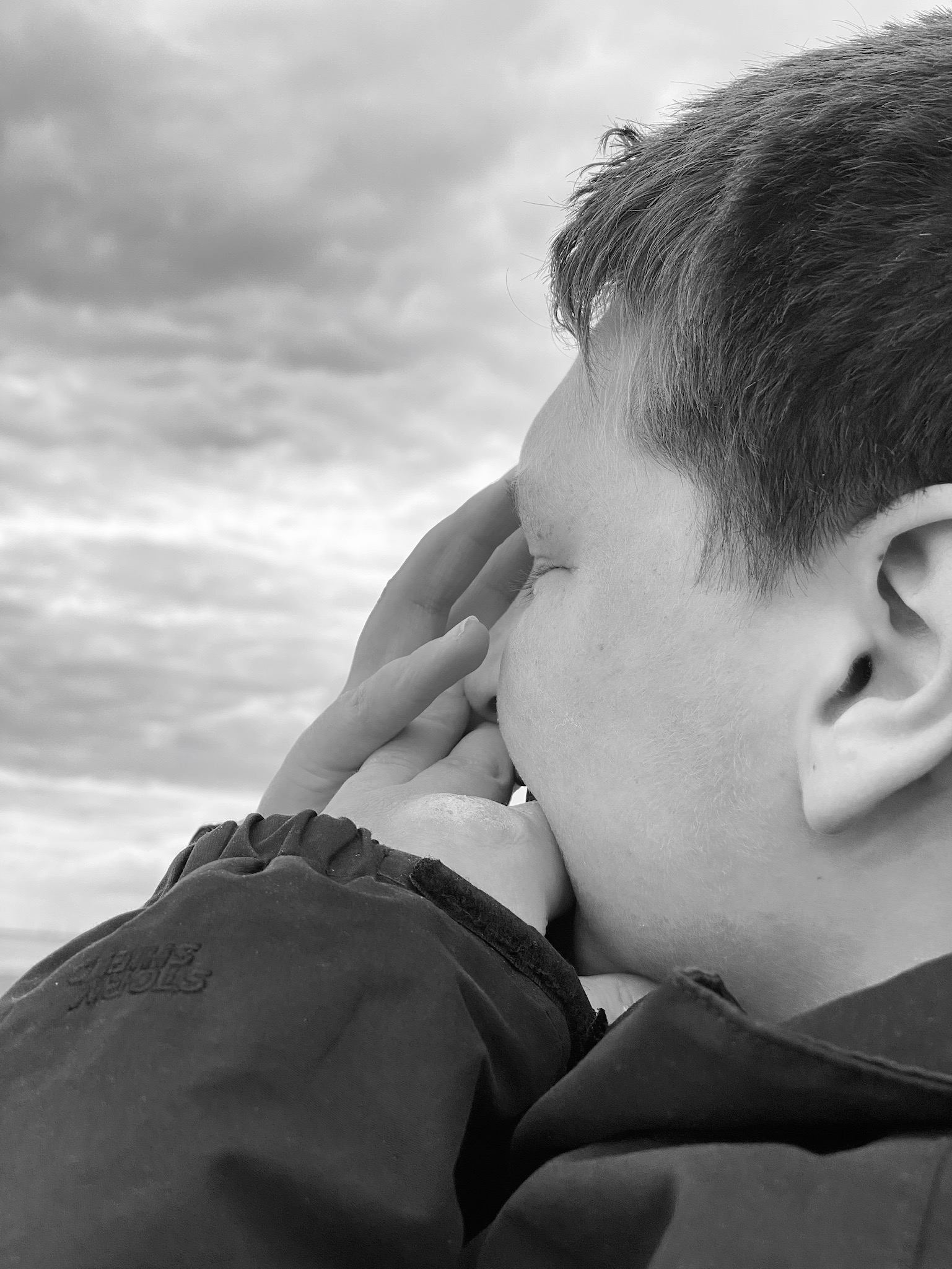 Profile image of 15 year old boy in black and white